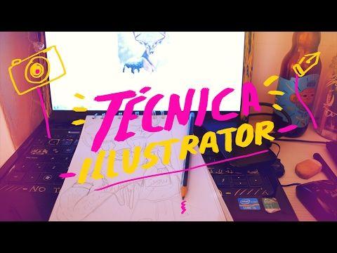 Técnica fácil para ilustrar en Illustrator-Andreaga - YouTube