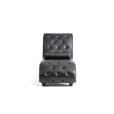 Renhold Chaise Lounge Upholstery: Black - http://delanico.com/chaise-lounges/renhold-chaise-lounge-upholstery-black-725809747/