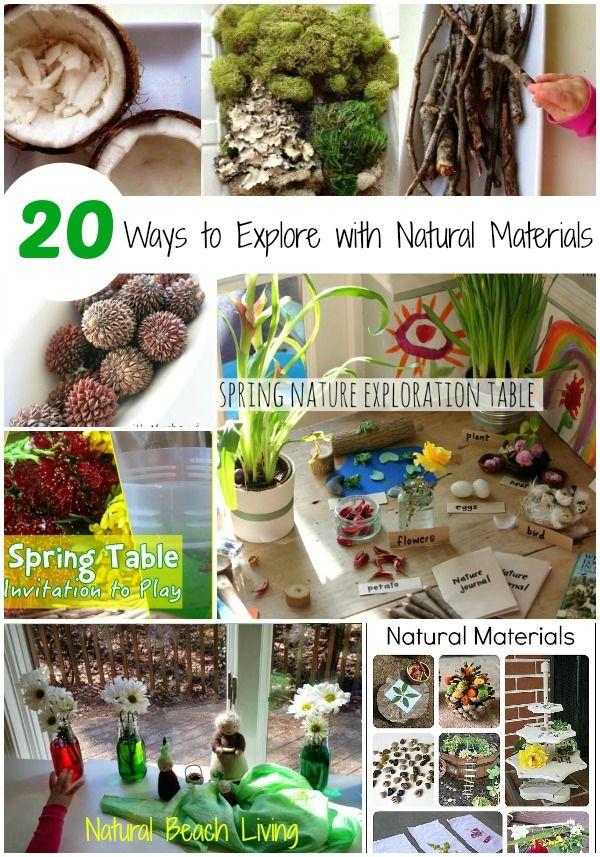 Exploring natural materials, Spring, Nature Walks, Nature Tables, Natural Learning, Natural Crafts, Reggio, Loose parts play, www.naturalbeachliving.com