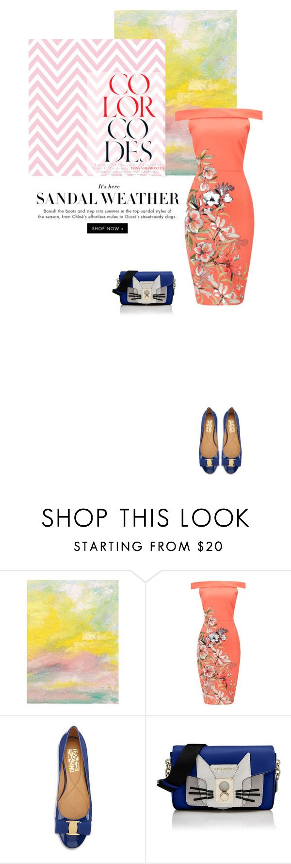 """""""Color Codes"""" by annasalenkova on Polyvore featuring Salvatore Ferragamo and Karl Lagerfeld"""
