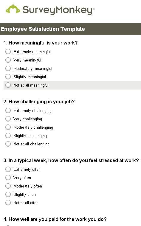 17 Best ideas about Employee Satisfaction Survey – Sample Employee Satisfaction Survey