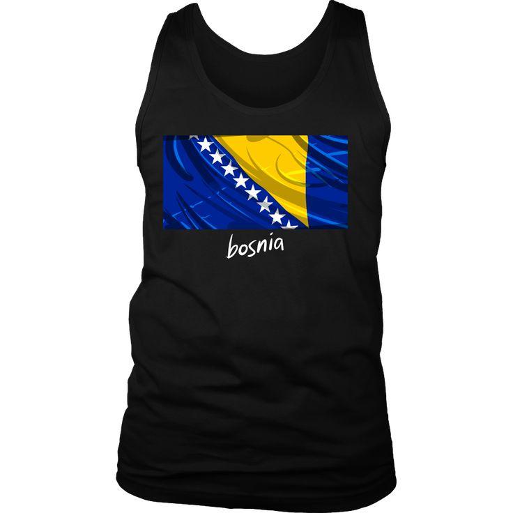 Bosnia Proud Vintage World Flag Tank
