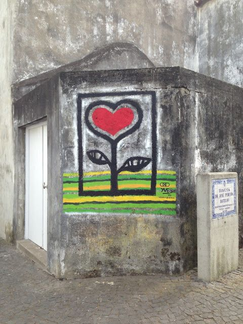 Yves Decoster, street art. Decoster is a Belgian artist that lives in Sao Miguel now. I Loved, LOVED seeing his work all over the island!!  Wander In Art : Love Grows Here