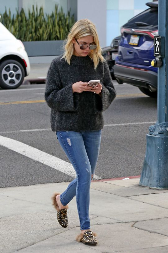Ashley Benson knows how to dress for those June gloom days in LA.