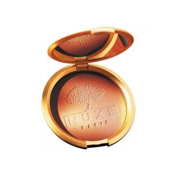 NUXE PARIS Poudre Éclat Prodigieux Compact Bronzing Powder // Oh she glows!   Scarlet & Julia