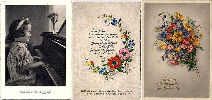 3 alte AK Zum Geburtstag Blumen und Mädchen am Klavier kaufen bei Hood.de
