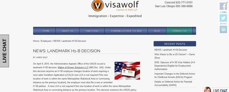 NEWS: Landmark H1-B Decision