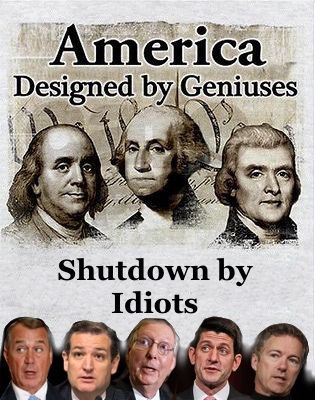 The republican government shutdown has taken at least $24 billion out of the United States economy, according to Bloomberg News on Thursday.  Small business suffered, large corporations saw stock values fall, thousands of military students were forced to drop out of classes, mainly because of suspension of the Defense Department's tuition assistance program during the government shutdown.