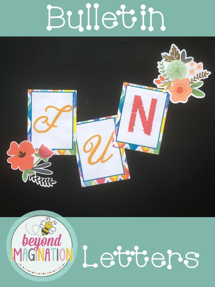 How fun and vibrant are these bulletin letters? These would look so neat in the classroom for the start of the year. Back to school never looked so good for teachers!