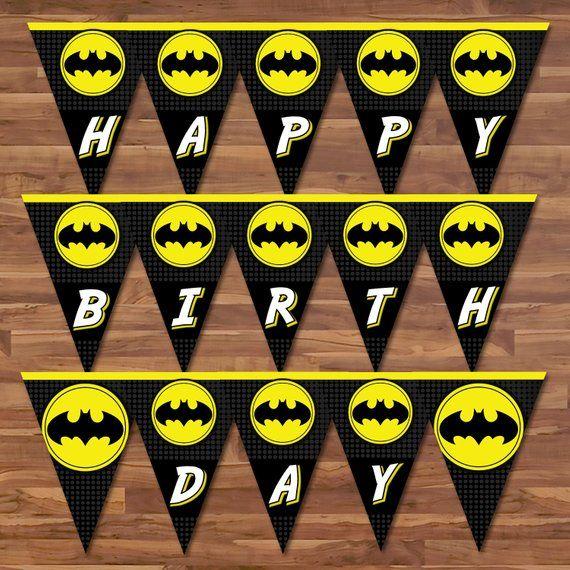 Superhero Banner Pennant With Images Lego Batman Birthday