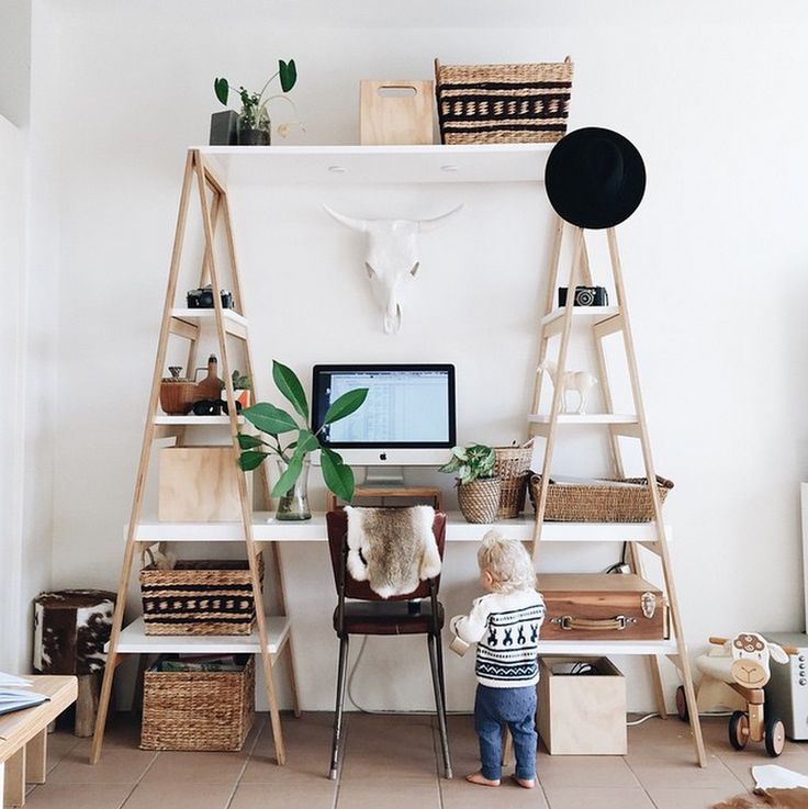 My workspace  Concept by: Tess Guinery  Built by: Caleb Guinery @tessguinerydesign / tessguinery.co