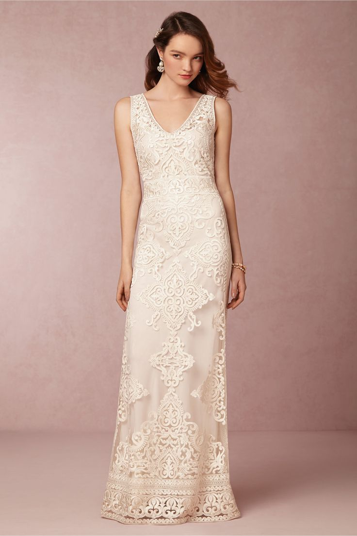 Alhambra Gown from BHLDN, it's more expensive than a lot of the gowns I pin, but it's still under $1000.