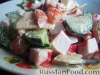 Вкусный салат с крабовым мясом