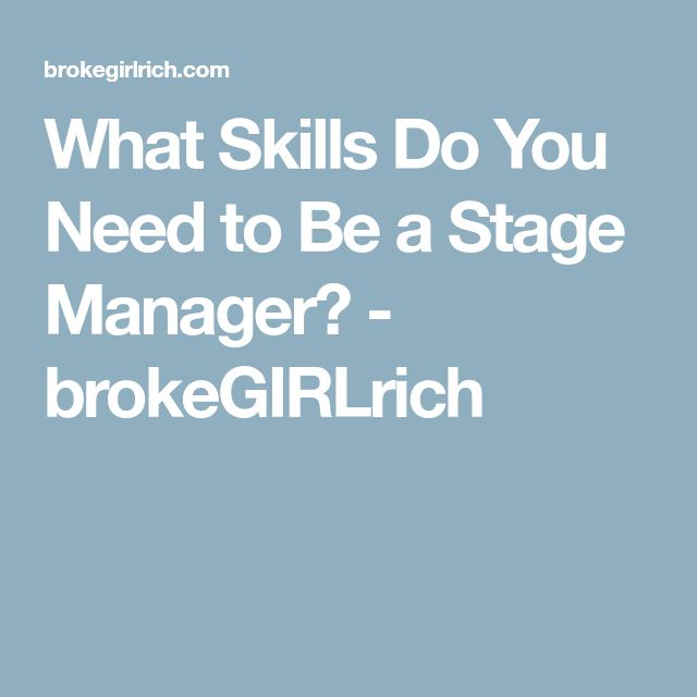 The 25+ best Stage management ideas on Pinterest Stage crew - stage manager resume