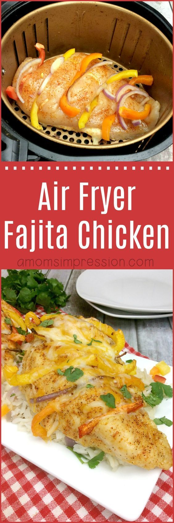 Here is a delicious and healthy air fryer fajita chicken recipe that your whole family will love. These easy step by step instructions makes this air fryer recipe easier than ever. #airfryer #fajitas #chicken via @kjhodson
