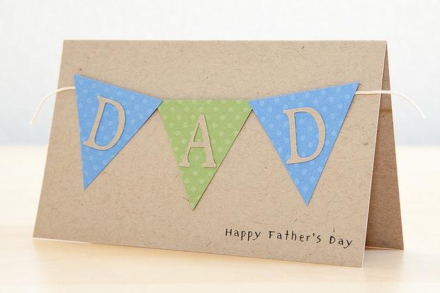 Cricut Banner Father's Day Card