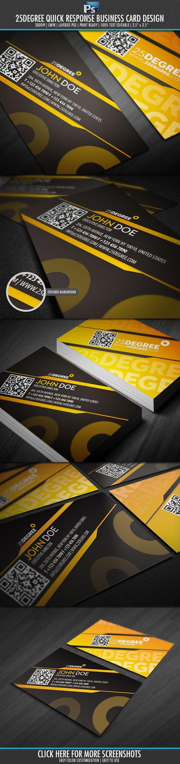 25 degree Quick Response Business Card by ~Lemongraphic on deviantART  http://www.techirsh.com
