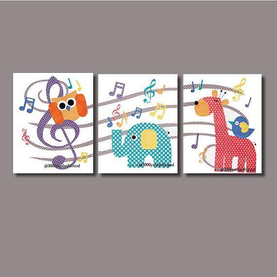 1422-4 Music Note Owl Musical Nursery Artwork Print Baby Room Decoration Kids Room Decor Nursery music note Gifts Under 20 art wall numbers