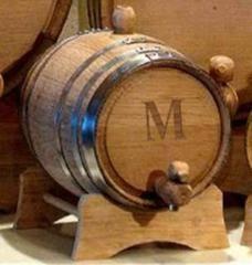 Personalized Set of 5 - 2 Liter Oak Whiskey Barrels-Groomsmen Gifts