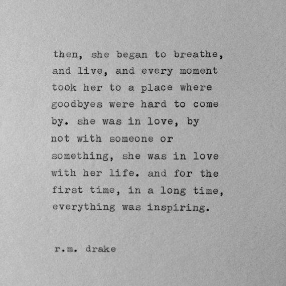 R.M. Drake Typewriter Quote / handtyped quote by WhiteCellarDoor, $10.00