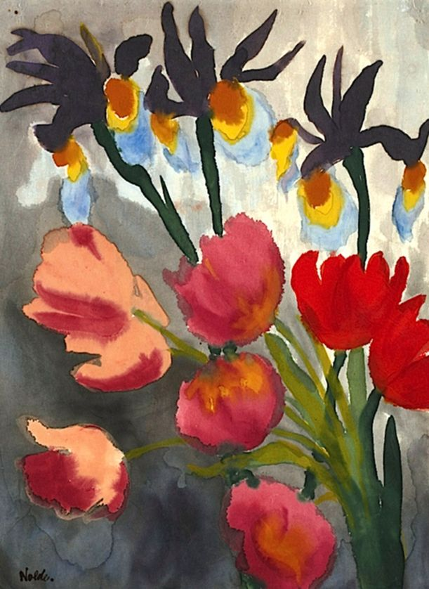 Lilies And Tulips ~ Emil Nolde