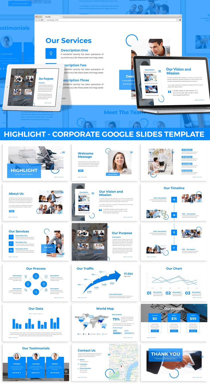 Corporate Google Slides Design