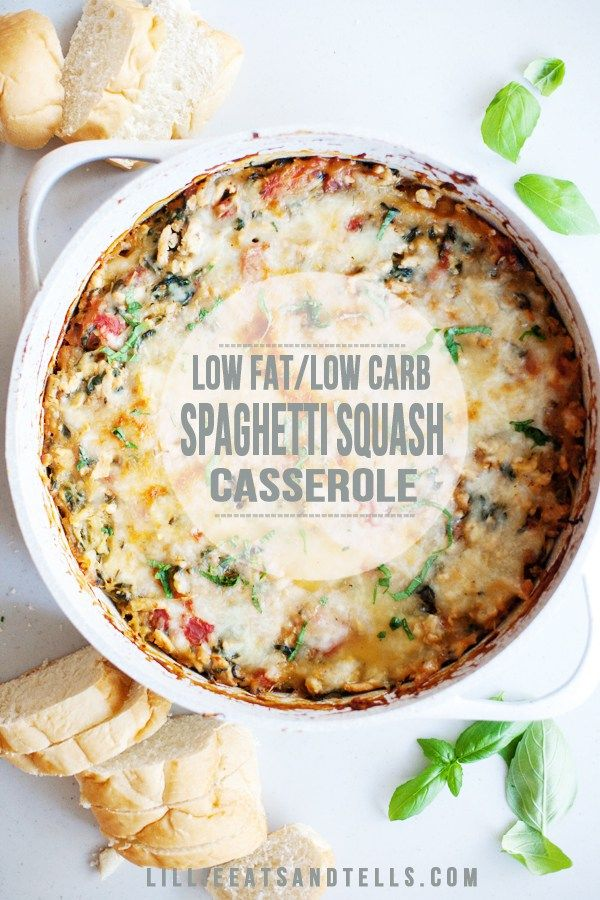 Creamy Cauliflower Spaghetti Squash Casserole