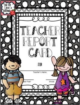 This is a fun activity you can do with your students during the last week of school! Students are given the opportunity to grade their teacher. It's always fun to see the responses you get! Print it front to back and fold like a book. http://www.teacherspayteachers.com/Store/Kim-Miller-24
