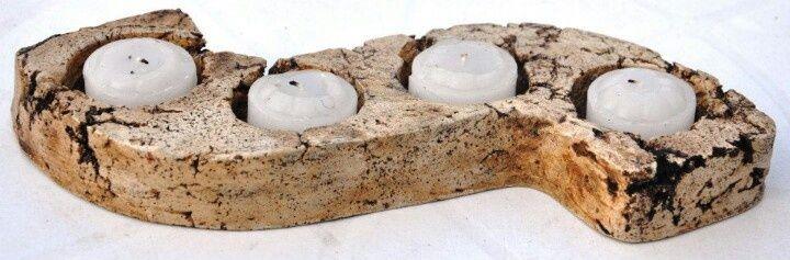 Resultado de imagen para posavelas de pasta piedra