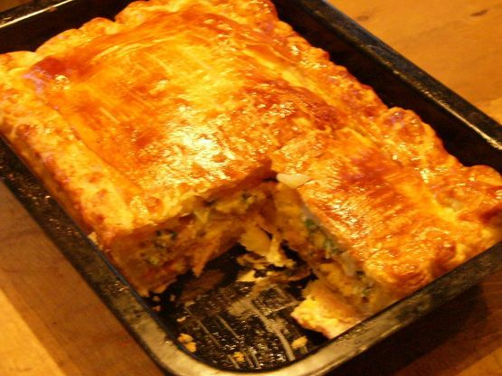 This is my mums, so the BEST pie ever! It is fantastic served with ketchup and in my opinion is probably better cold. Great for picnics.