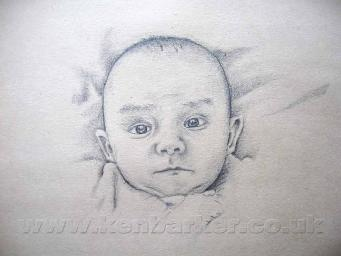 """Pencil portrait commissions by Ken Barker on old 12"""" record sleeve. £150 Plus P+P"""