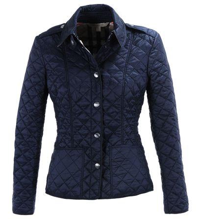 Veste matelassée courte Burberry Bleu marine pour Femme prix promo Galeries Lafayette 495.00 € TTC