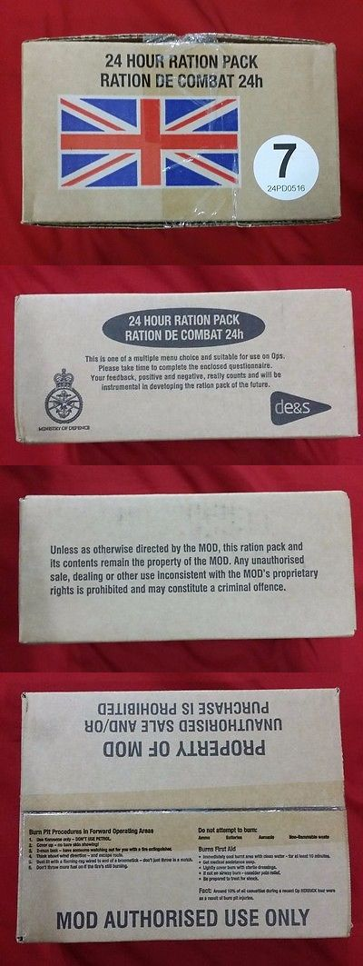 MREs and Freeze-Dried Food 62118: British Military 24 Hour Combat Ration Orp Irp Mre Menu 7 -> BUY IT NOW ONLY: $49.09 on eBay!
