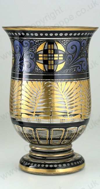 VINTAGE c.1920s HERMANN PAUTSCH HAIDA ENAMELLED GLASS VASE. This item is sold…