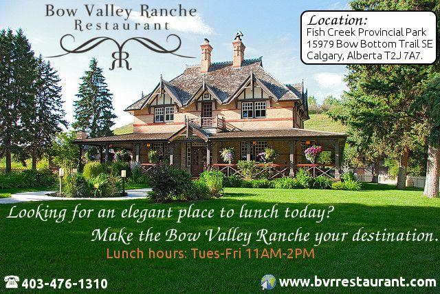 Bow Valley Ranche Elegant Calgary Restaurant