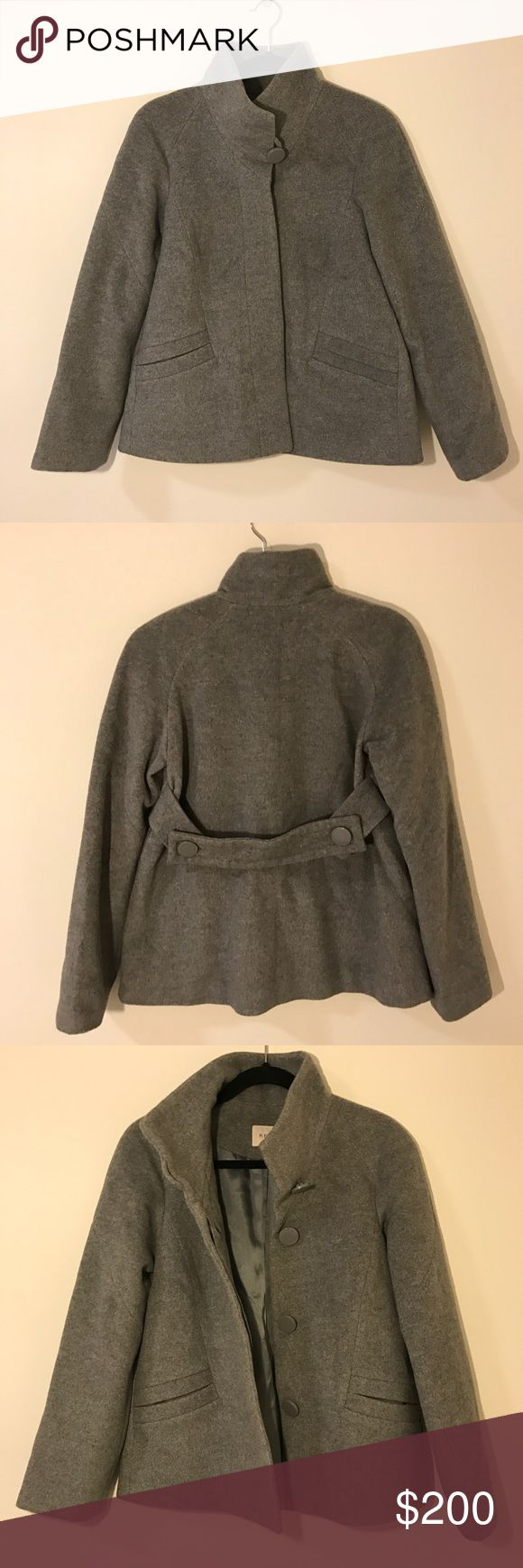 Reiss gray wool coat Worn a couple times, in excellent condition! 35% wool Reiss Jackets & Coats