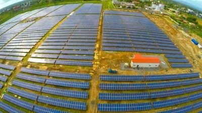 The 12MW solar farm is situated near the freight terminal at Cochin International. (Credit: Cochin International Airport)