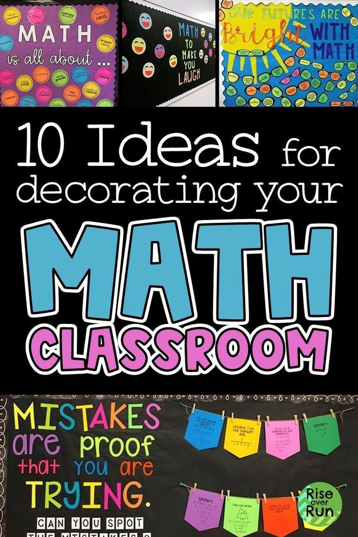 10 Ideas For Decorating Your Math Classroom Math Bulletin Boards