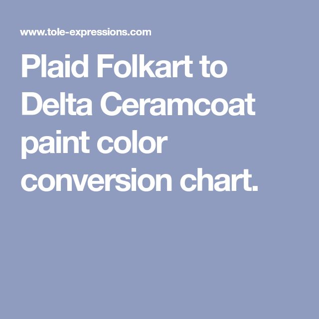 Plaid Folkart To Delta Ceramcoat Paint Color Conversion Chart