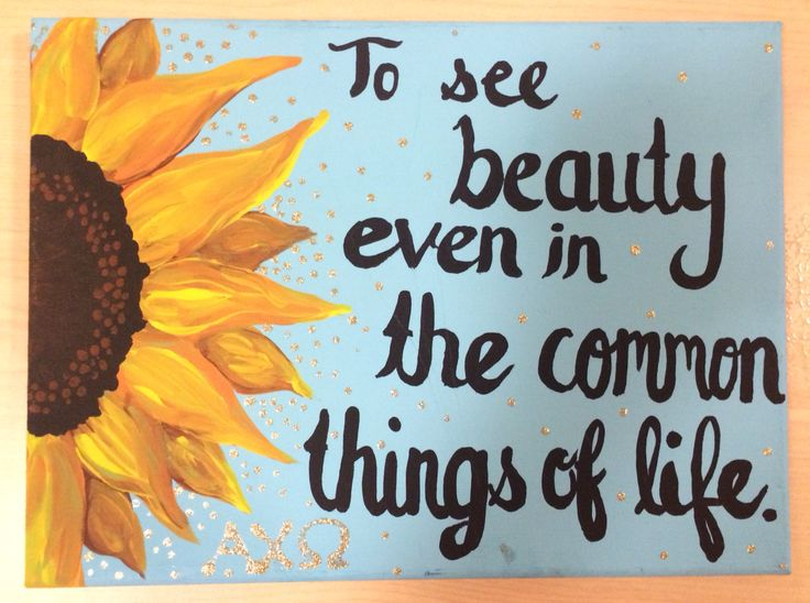 Alpha chi omega symphony sunflower canvas.