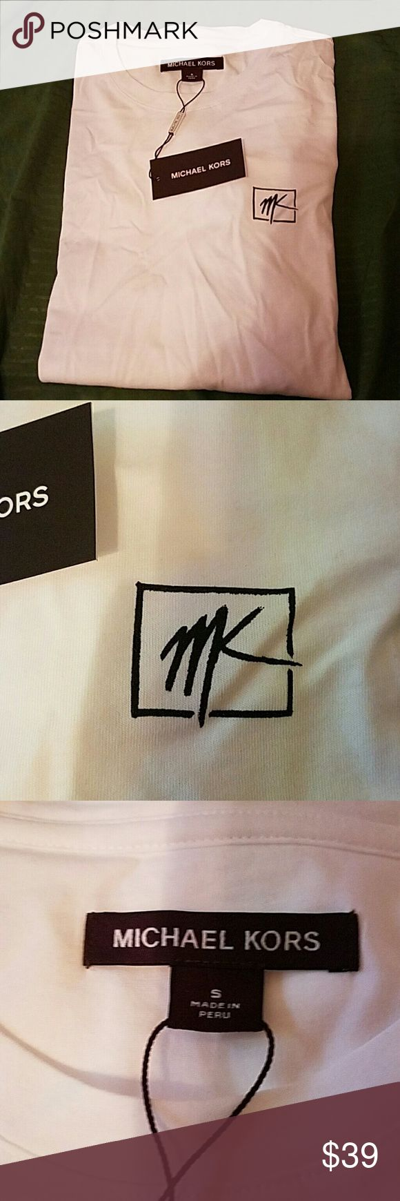 Michael kors plain tshirt mens Small michael kors mens plain tshirt Michael Kors Shirts Tees - Short Sleeve