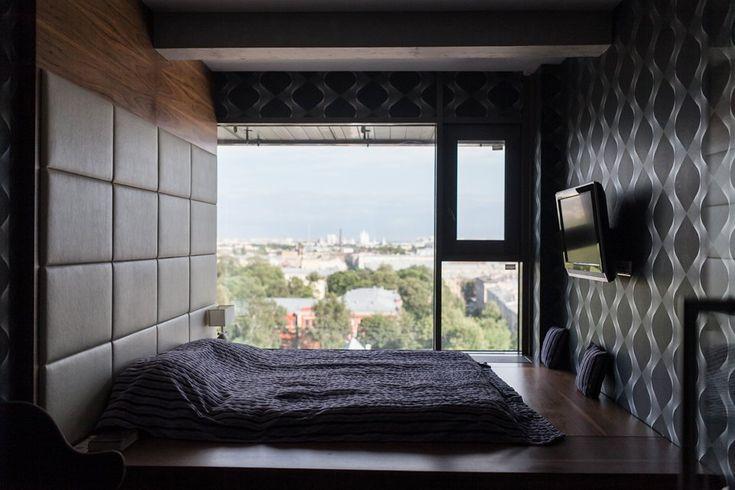 Мужская квартира с панорамным видом на город. Изображение №25.