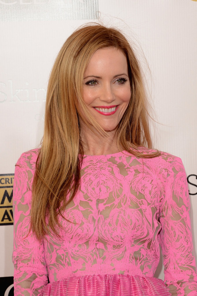 Cute and sexy Leslie Mann at Critics' Choice Awards 2013