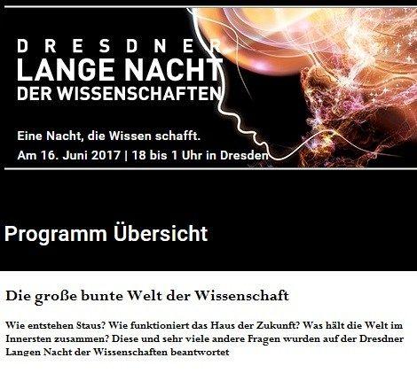 Dresdner Lange Nacht der Wissenschaften