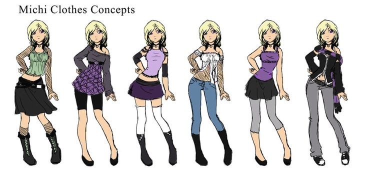 anime girl clothes designs michi clothes designs by