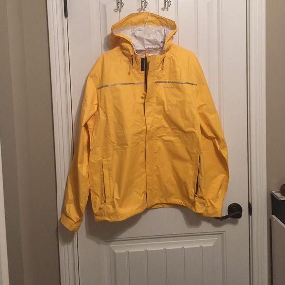 VV performance rain jacket - fits men and women Brand new Vineyard Vines classic yellow rain jacket from their performance collection Vineyard Vines Jackets & Coats