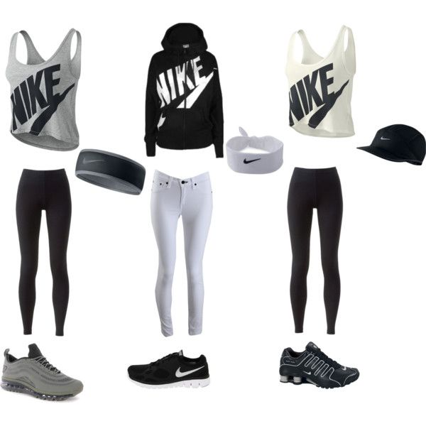Nike outfits ! by tetebama on Polyvore featuring polyvore, fashion, style, NIKE and rag bone