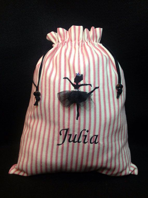 Personalized Ballet Dance Bag by SeeSalSew on Etsy, $20.00