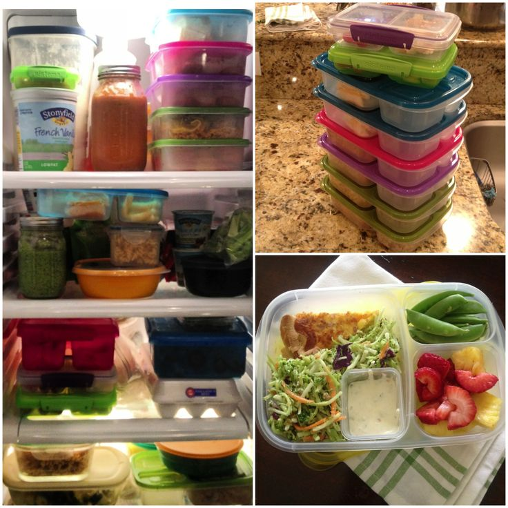 Prep Lunches for the Week - Can freeze lunches in divided containers!