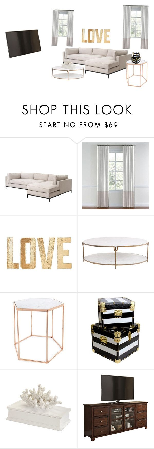 """""""Bride's living room"""" by kalystacheer on Polyvore featuring interior, interiors, interior design, home, home decor, interior decorating, PBteen, Global Views, Bloomingville and living room"""